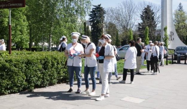 Ubiegłotygodniowy protest pielęgniarek w Warszawie /Piotr Szydłowski /RMF FM