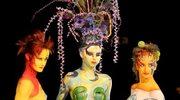 Ubrana w makijaż - body painting