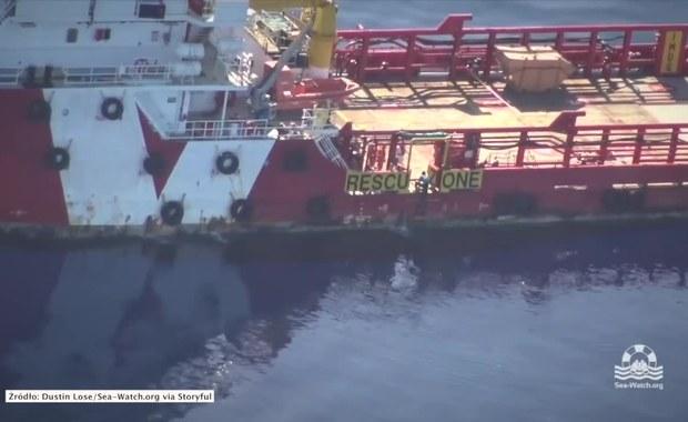 Uchodźca płynął wpław przez Morze Śródziemne