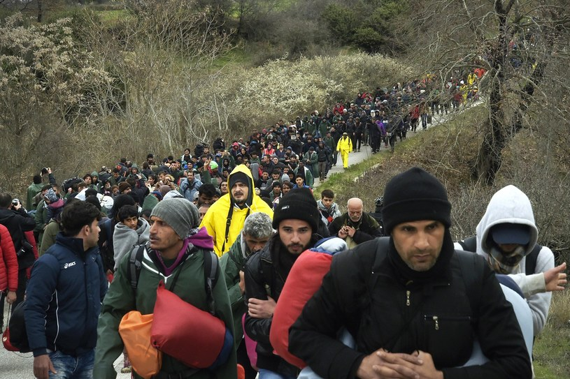 Uchodźcy na granicy grecko-macedońskiej w Idomeni /Danilo Balducci /Reporter