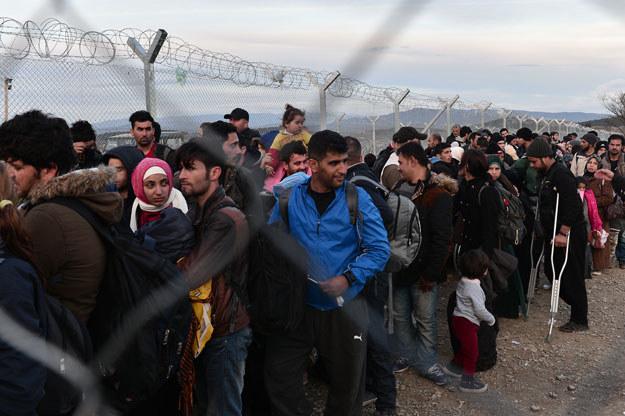 Uchodźcy na granicy grecko-macedońskiej /AFP