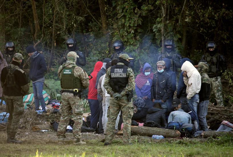 Uchodźcy na granicy polsko-białoruskiej /Jakub Kamiński   /East News