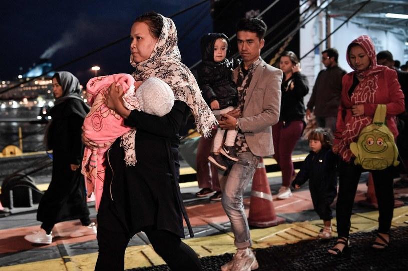 Uchodźcy na greckiej wyspie Lesbos /AFP