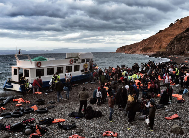 Uchodźcy na Lesbos - 29.10 /Aris Messinis /AFP