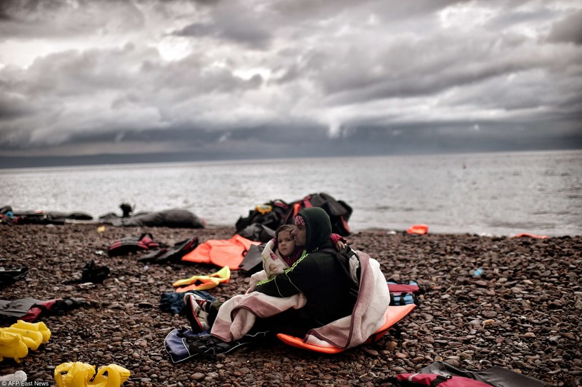 Uchodźcy na Lesbos /AFP /East News