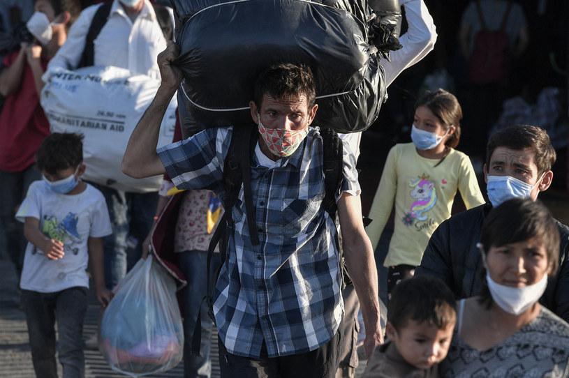 Uchodźcy na Lesbos /AFP