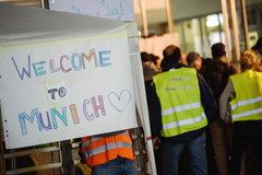 Uchodźcy napływają do Niemiec
