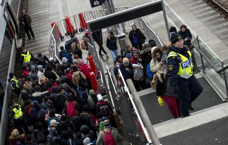Uchodźcy w Szwecji, Malmo, listopad 2015 /JOHAN NILSSON / TT NEWS AGENCY / AFP /AFP