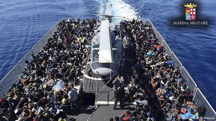 Uchodźcy z Afryki /Deutsche Welle