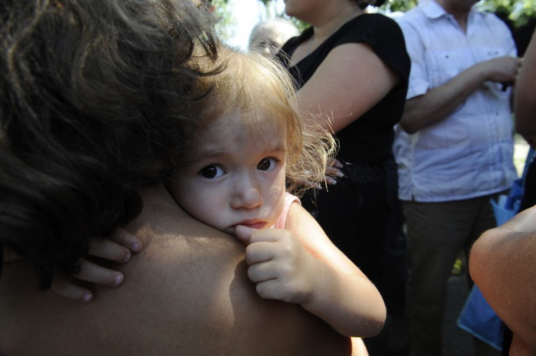 Uchodźcy z Doniecka /Alexander KHUDOTEPLY /AFP