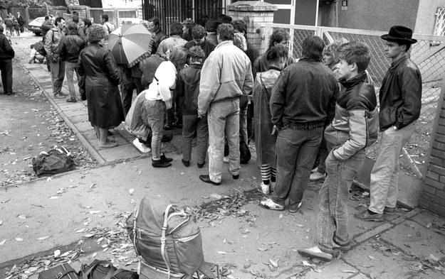Uchodźcy z NRD /Tomasz Wierzejski /Fotonova