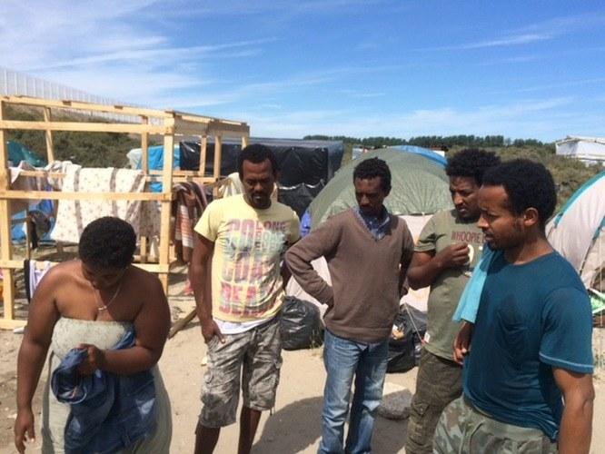 Uchodźcy z obozowiska w Calais /Marek Gładysz /RMF24