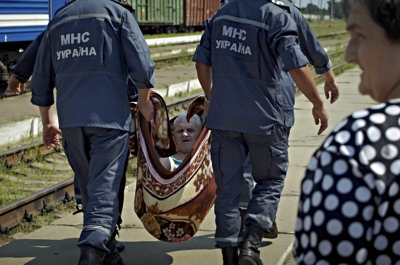Uchodźcy z okolic Ługańska /PAP/EPA