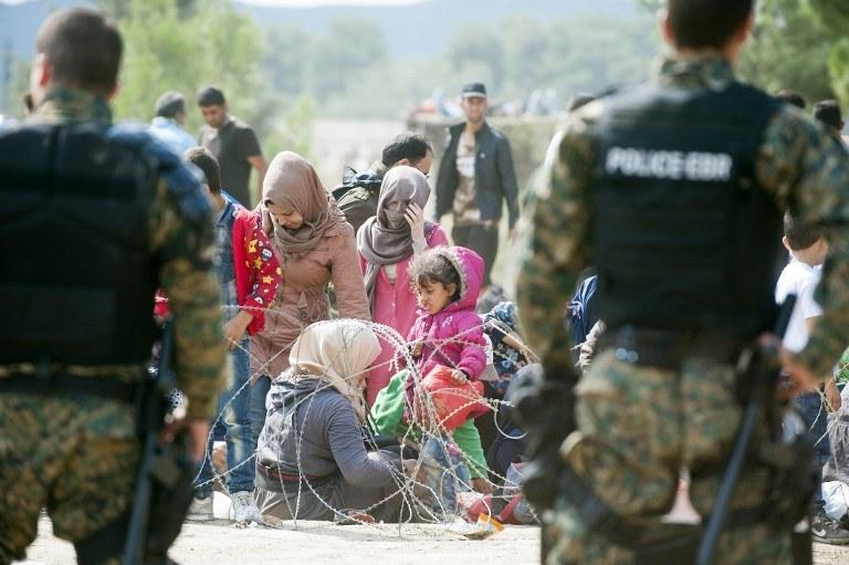 Uchodźcy /AFP