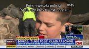 Uczeń zaatakowanej szkoły w Newtown: Ktoś krzyknął, żeby poszukać bezpiecznego miejsca