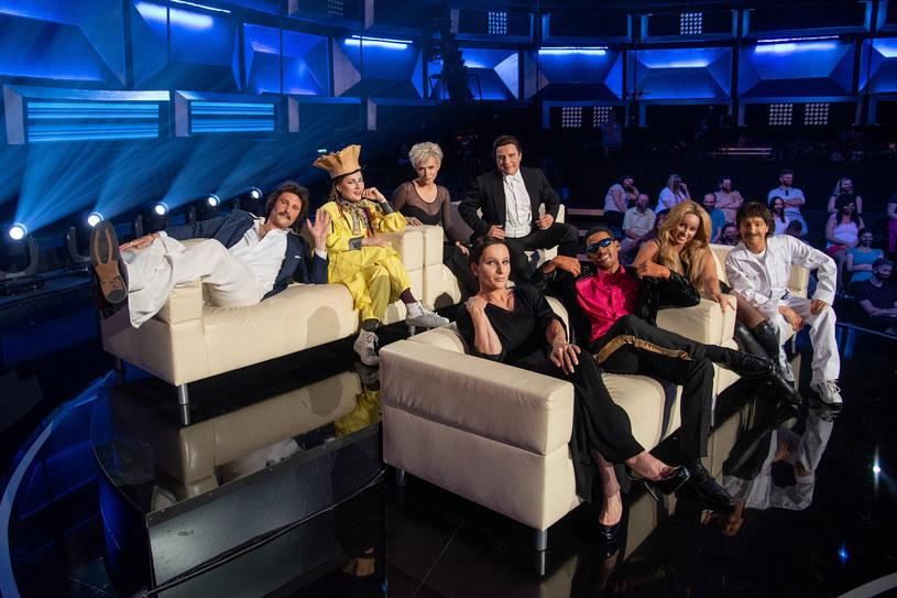 """Uczestnicy 9. odcinka """"Twoja twarz brzmi znajomo"""" /M. Zawada /Polsat"""