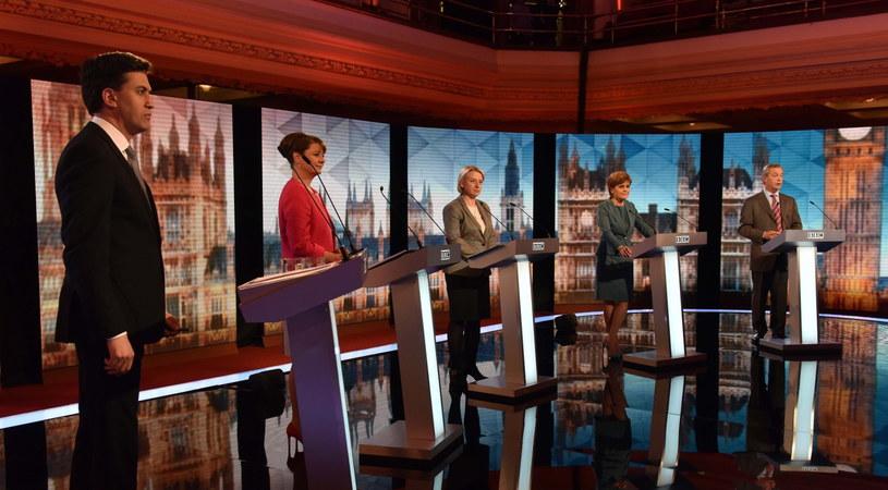 Uczestnicy debaty /PAP/EPA