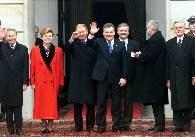 Uczestnicy konferencji przed Pałacem Prezydenckim /RMF24.pl
