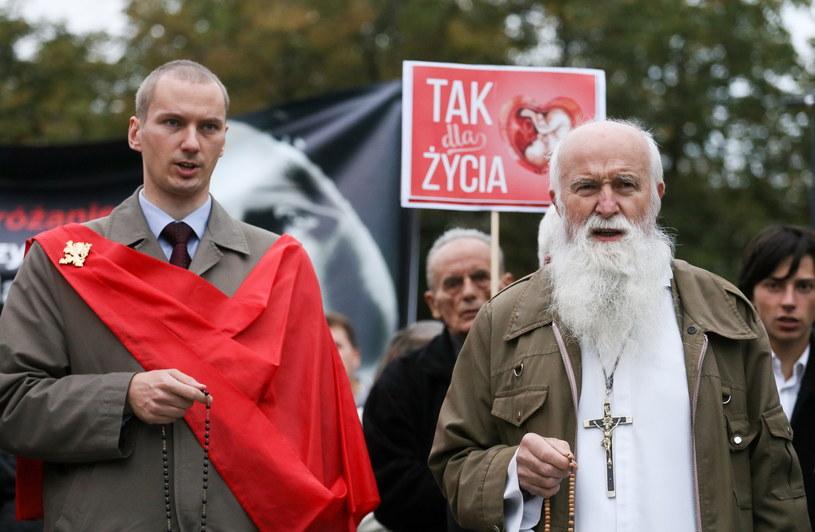 Uczestnicy Krucjaty Różańcowej za Ojczyznę /Paweł Suparnak /PAP