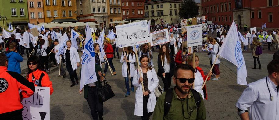 Uczestnicy manifestacji /Michał Dukaczewski /RMF FM