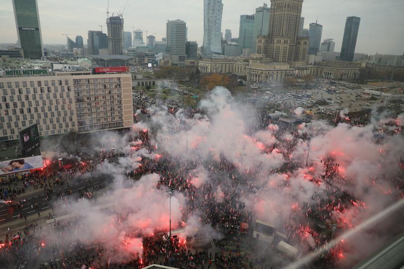 Uczestnicy Marszu Niepodległości 2019 / Jakub Kamiński    /East News