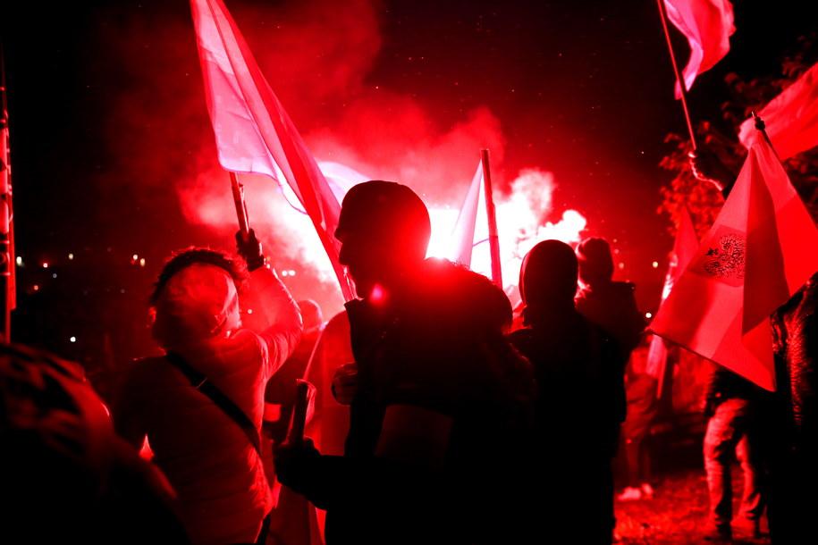 Uczestnicy Marszu Niepodległości w Warszawie /Tomasz Gzell /PAP