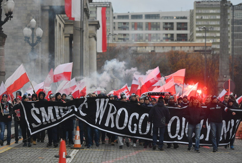 Uczestnicy Marszu Niepodległości /Bartłomiej Zborowski /PAP