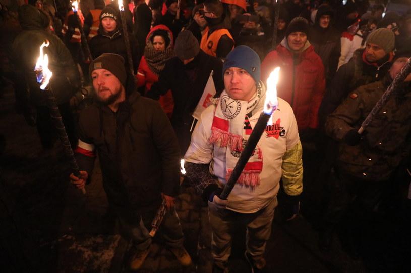 Uczestnicy marszu ONR /Tomasz Gzell   /PAP