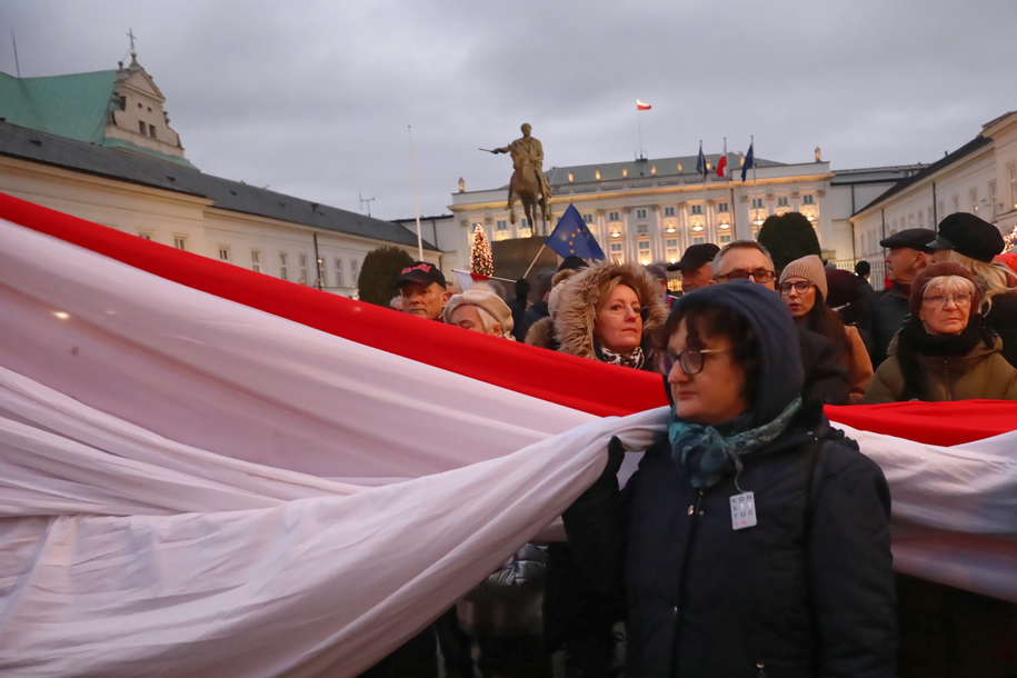 """Uczestnicy """"Marszu Tysiąca Tóg"""" / Tomasz Gzell    /PAP"""