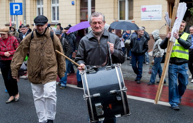 Uczestnicy marszu /PAP/Andrzej Grygiel    /PAP