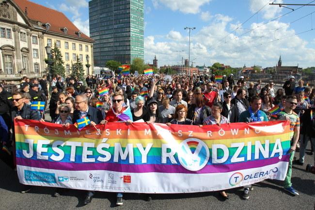 Uczestnicy marszu /PAP/Piotr Wittman /PAP
