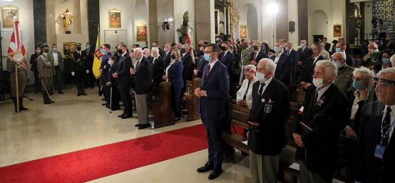 Uczestnicy mszy w Katedrze Polowej Wojska Polskiego /Piotr Molecki/East News /East News