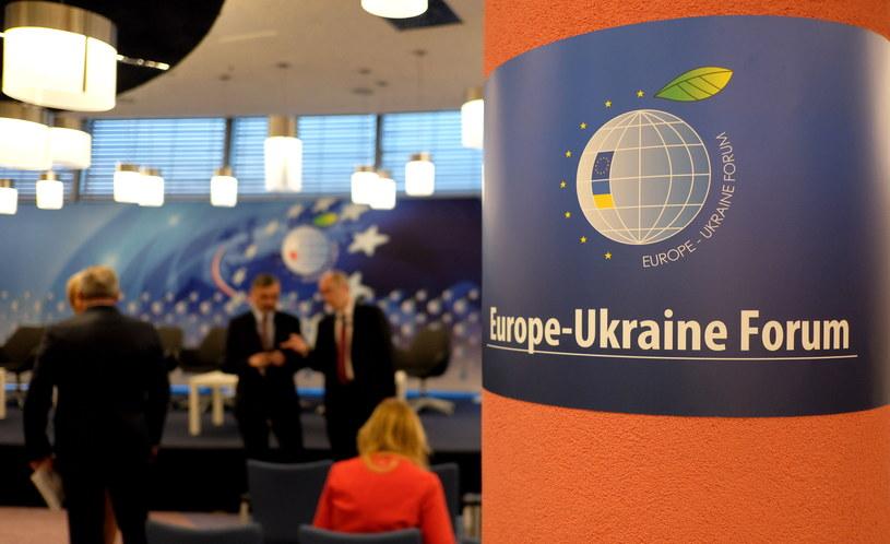 Uczestnicy podczas rozpoczynającego się w Jasionce, dwudniowego Forum Europa-Ukraina /Darek Delmanowicz /PAP