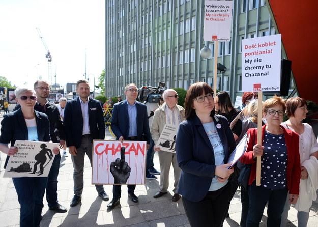 Uczestnicy protestu w Kielcach / Piotr Polak    /PAP