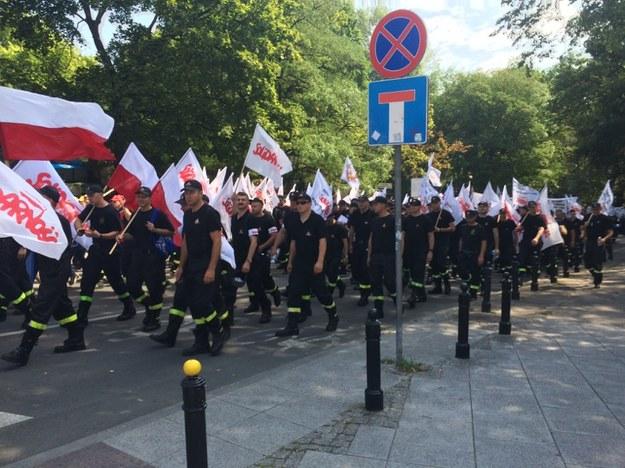 Uczestnicy protestu /Michał Dobrołowicz /RMF FM