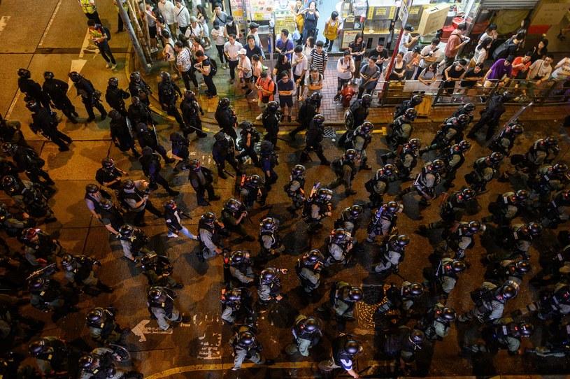 Uczestnicy protestu /PHILIP FONG  /AFP