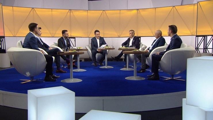 """Uczestnicy """"Śniadania Rymanowskiego w Polsat News i Interii"""" /Polsat News"""