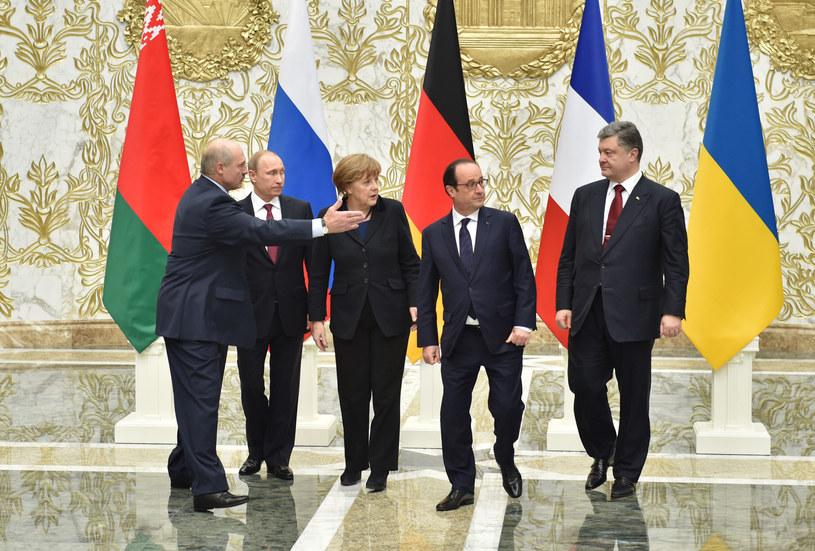 Uczestnicy spotkania w Mińsku /AFP