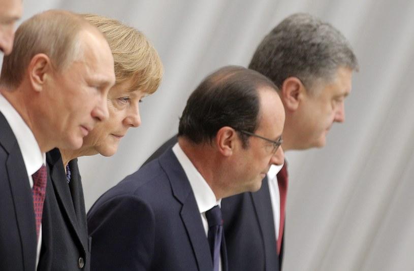 Uczestnicy spotkania w Mińsku /PAP/EPA