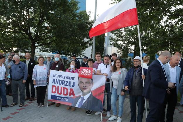 Uczestnicy spotkania z prezydentem Andrzejem Dudą w Kole /Roman Zawistowski /PAP