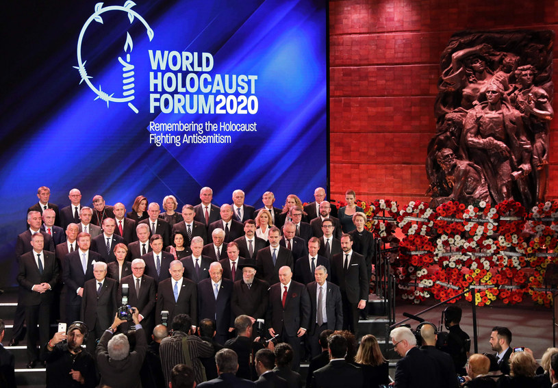Uczestnicy Światowego Forum Holokaustu w Jerozolimie /ABIR SULTAN/AFP /East News