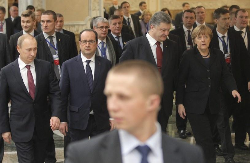Uczestnicy szczytu w Mińsku /PAP/EPA