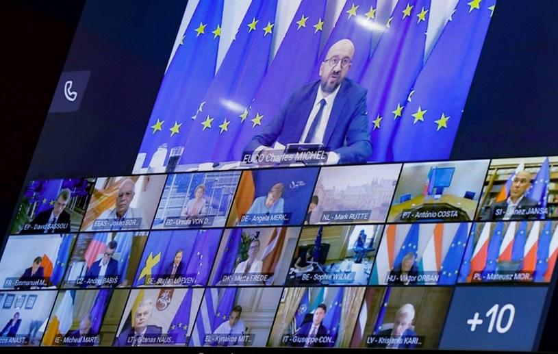 Uczestnicy szczytu w sprawie Białorusi /OLIVIER HOSLET / POOL /AFP