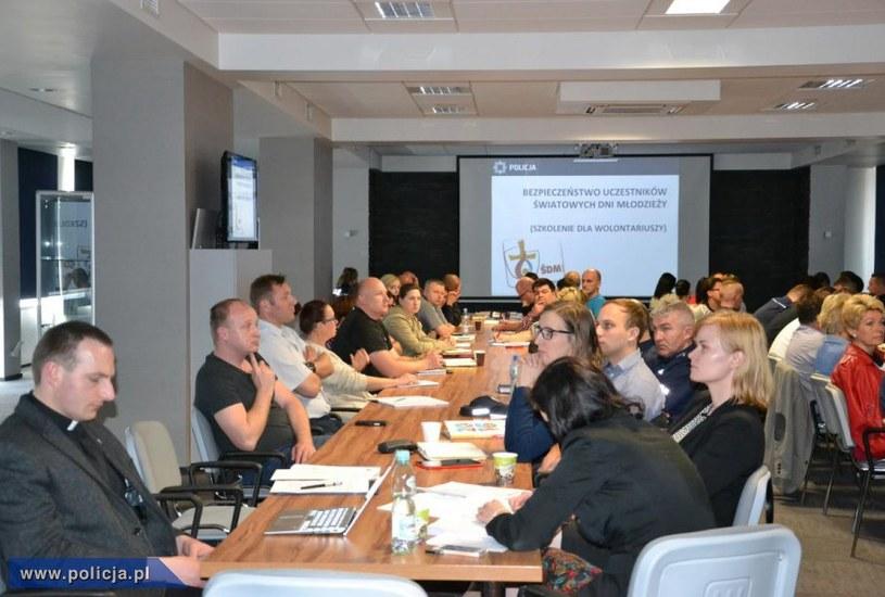 Uczestnicy szkolenia /Policja