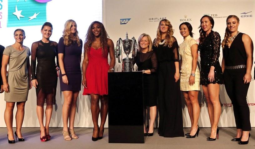 Uczestniczki turnieju WTA Championships. Druga od lewej - Agnieszka Radwańska /PAP/EPA