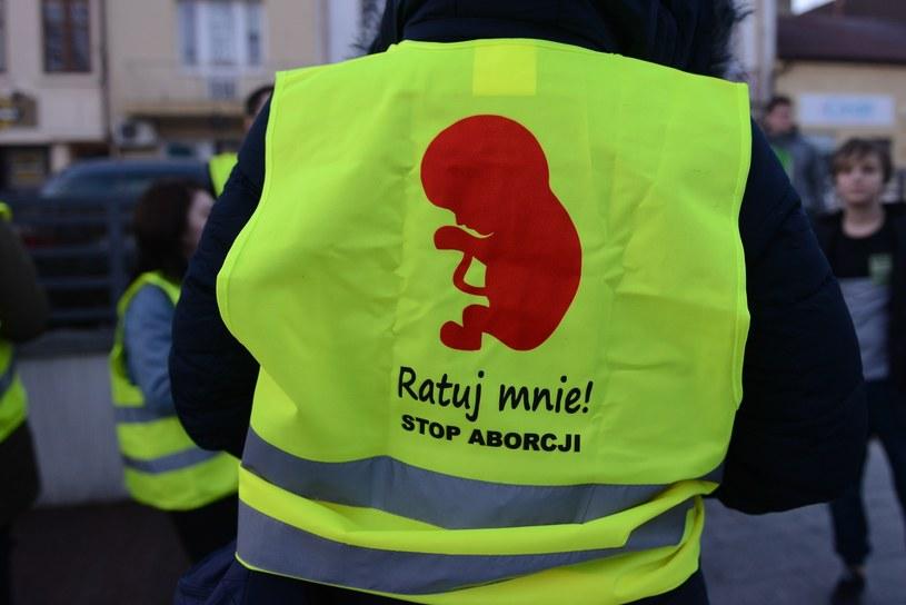 Uczestnik manifestacji antyaborcyjnej, zdjęcie ilustracyjne /Adam Staśkiewicz /East News