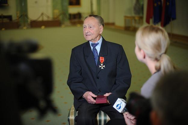 Uczestnik obrony Tobruku podczas II wojny światowej Stanisław Mroszczak, fot. Jacek Turczyk /PAP