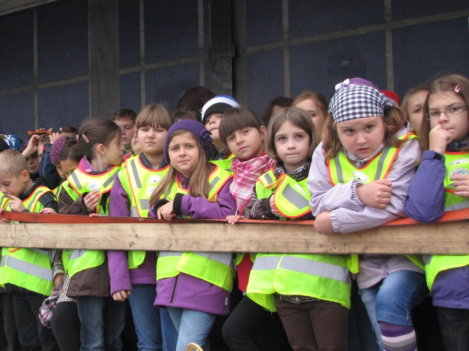 Uczniowie przekonali się, jak niebezpieczne są na drogach ciężarówki /Grzyb Maciej /RMF FM