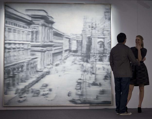 """Udało mu się sprzedać """"Domplatz, Mailand"""" Gerharda Richtera za 37,3 mln dolarów /AFP"""