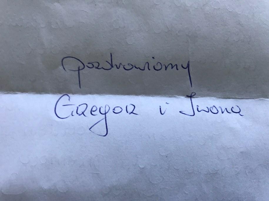 Udało się odnaleźć autora i adresatkę listu. Są razem /Krzysztof Kot /RMF FM